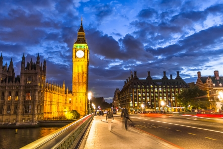 city of westminster: Big Ben by night, London, England