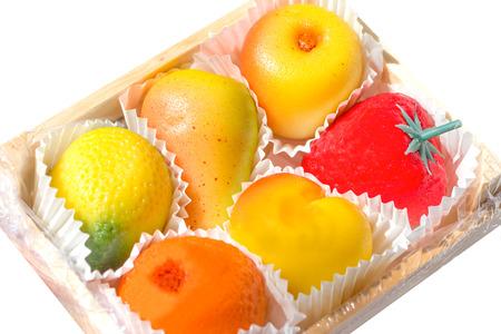 marzipan: Marzipan fruits Stock Photo