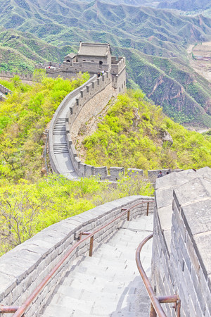 simatai: The Great Wall of China Stock Photo