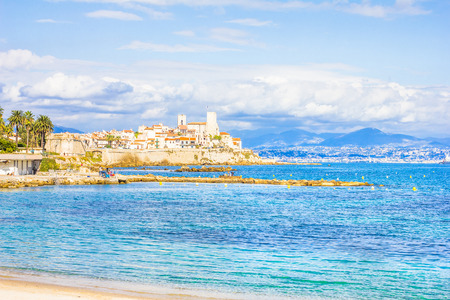 The city of Antibes, south of France photo