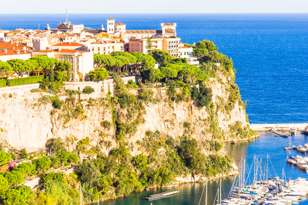 Princes Palace and the port in Monaco photo