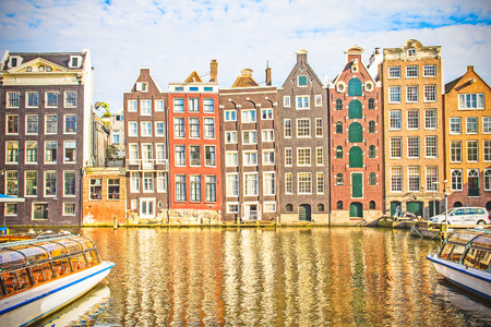 gabled house: Amsterdam canal