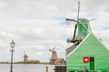 zaan: Windmills in The Netherlands Stock Photo