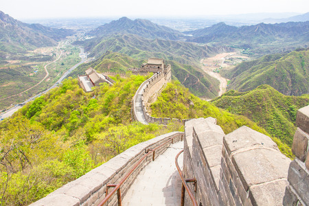 feats: The Great Wall of China Stock Photo