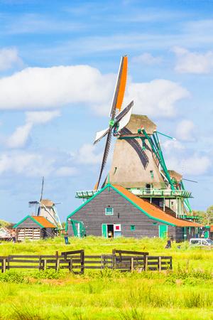 dutch: Dutch windmills Stock Photo