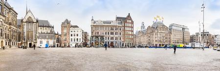 dam square: View of the Dam square, Amsterdam