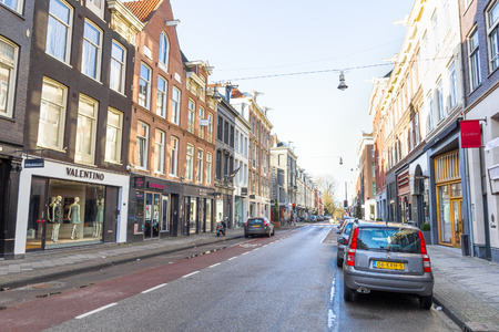 comercial: View of the Kalverstraat street in Amsterdam