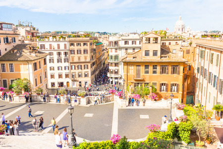 piazza: Piazza di Spagna in Rome Italy