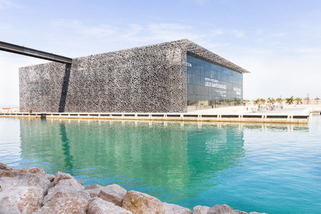 The modern building of Museum of European and Mediterranean Civilizations MuCEM