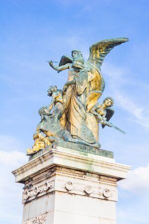emmanuel: Statue in front of Victor Emmanuel, Piazza Venezia, Rome, Italy