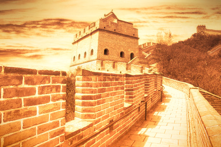 chinese wall: The Great Wall of China Stock Photo