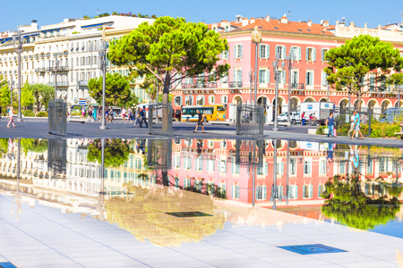 fontaine: Fontaine on Place Massena in Nice