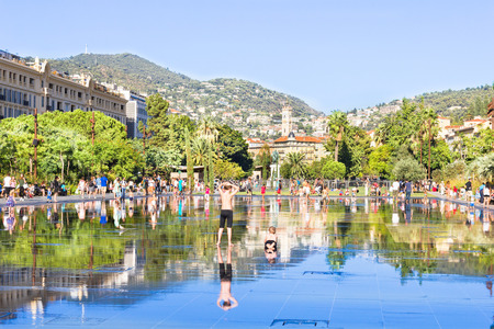 nice france: Fontaine is Place Massena in Nice