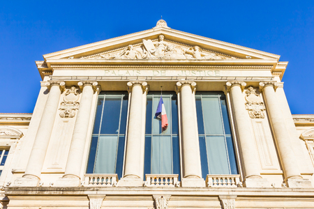 nice france: Courthouse in Nice, France Editorial