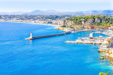 france: The coast of Nice, France