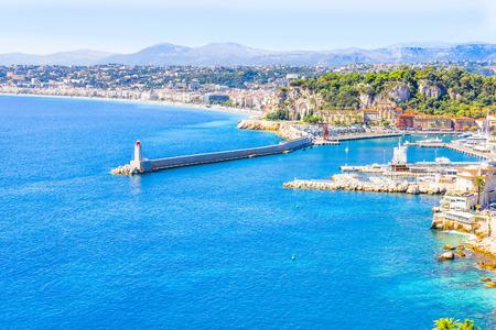 The coast of Nice, France
