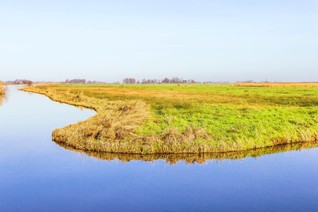 river       water: Rural landscape in Holland