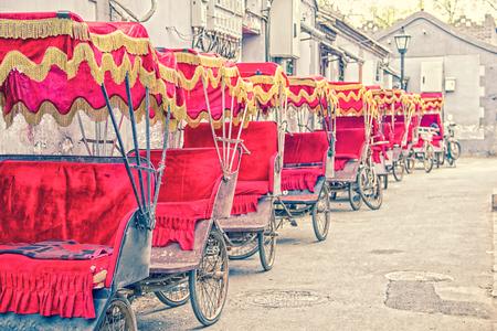 east riding: Asian rickshaws Stock Photo