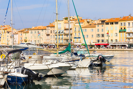 tropez: Boats in the old port of Saint Tropez, French Riviera