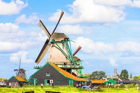 zaandam: Tourists walking in the rural area in Zaandam, The Netherlands