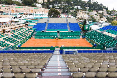 finals: Clay tennis court prepared for the Monte-Carlo Rolex Masters finals