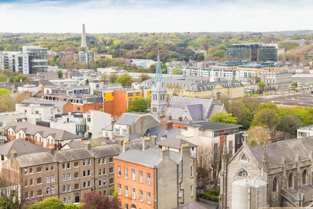 dublin ireland: Aerial view of Dublin, Ireland Stock Photo