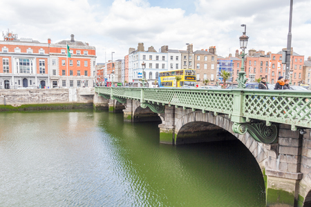 liffey: Liffey river bank in Dublin, Ireland