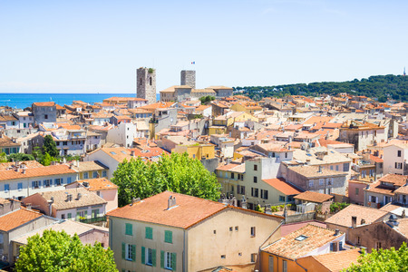 old city: The old city of Antibes, French Riviera Stock Photo