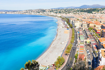 riviera: Aerial view of Nice, French Riviera