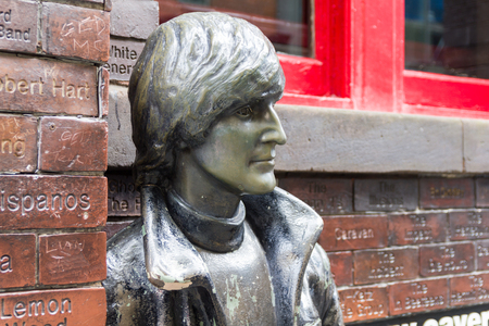 John Lennon statue in front of the Cavern Pub, Liverpool, UK