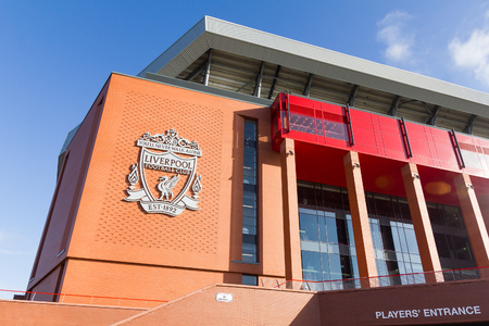 View of the Anfield stadium, home of Liverpool Football Club