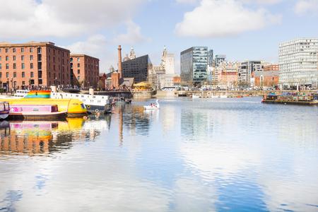 mersey: View of the Albert Dock, Liverpool, UK
