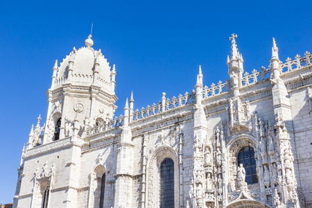 The Jeronimos Monastery and the Church of Santa Maria in Belem, Lisbon, Portugal