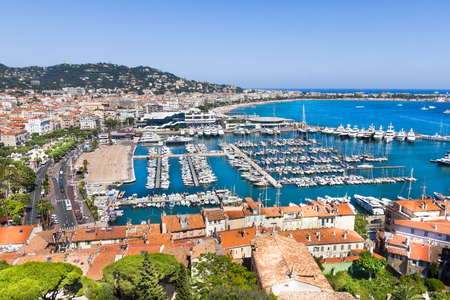 Cannes city view, south of France 스톡 콘텐츠