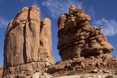 np: Rocks at Arches NP Stock Photo