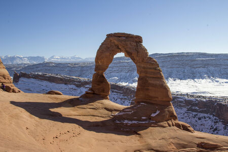 Delicate arch on a winter morning