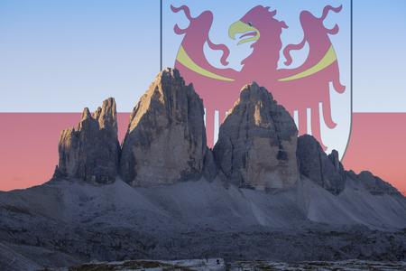 Dolomiti  e flags series; Tre Cime di Lavaredo - Sudtirol-Alto Adige