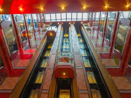 Lifts inside Costa Deliziosa cruise ship 新聞圖片