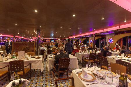 Passengers in the restaurant of Costa Deliziosa cruise ship