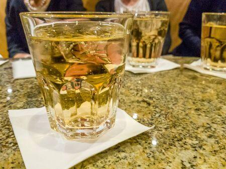 Glasses of ginger ale on table Reklamní fotografie