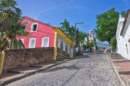 Olinda, Old city street view, Brazil, South America