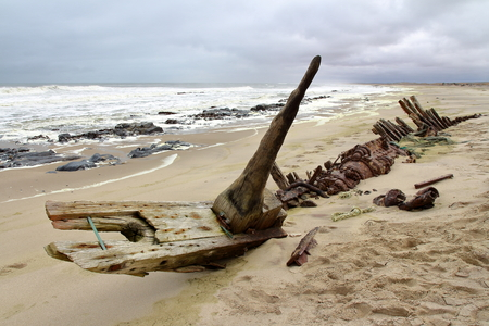 ship wreck: Ship Wreck in Skeleton Coast, Namibia