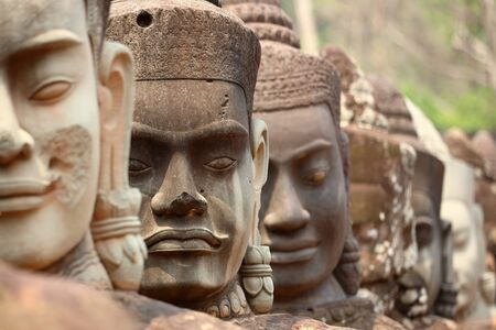 Face detail in Angkor Wat, Cambodia