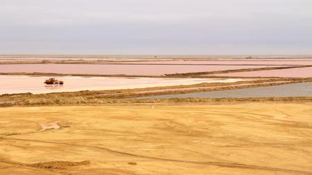 mondrian: Salt flats near Swakopmund, Namibia