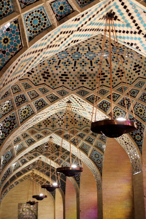 shiraz: Mosque dome: Nasir al Molk Mosque, Shiraz, Iran