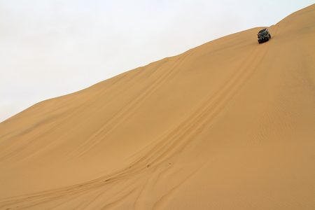 namib: Namib Desert exploration with 4x4 car Stock Photo