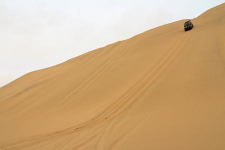 Namib Desert exploration with 4x4 car Stock Photo