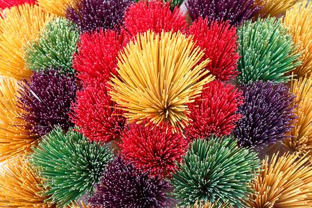 incense sticks: Colored incense sticks