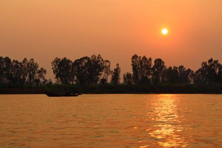 mekong: Mekong River Sunset