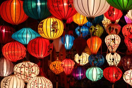 Traditional Asian lamp in Hoi An, Vietnam